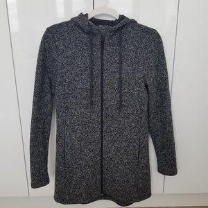 Joe Fresh - Marled Grey Active Long Zip-up Hoodie